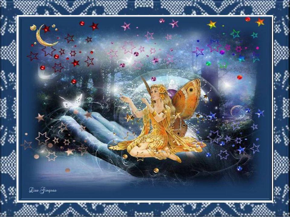 Quand le jour s'endort, les étoiles se réveillent Et les astres pendant un instant sommeillent; Quand le jour s'endort l'art et la poésie Dansent dans le ciel rempli de fantaisie…
