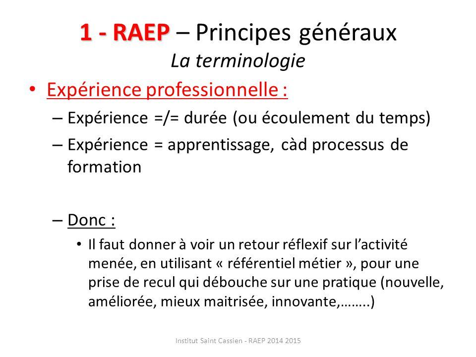 2 -RAEP 2 -RAEP – Présentation du dossier Rappel : >Pour le concours interne, cela correspond à une des deux possibilités de l'admissibilité « ……étude par le jury d'un dossier de RAEP établi par le candidat.