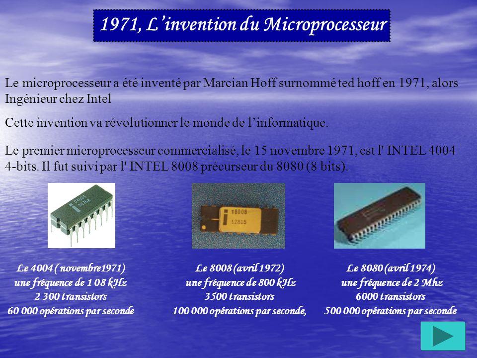 1952 : IBM produit son premier ordinateur, l IBM 701 pour la défense Américaine.