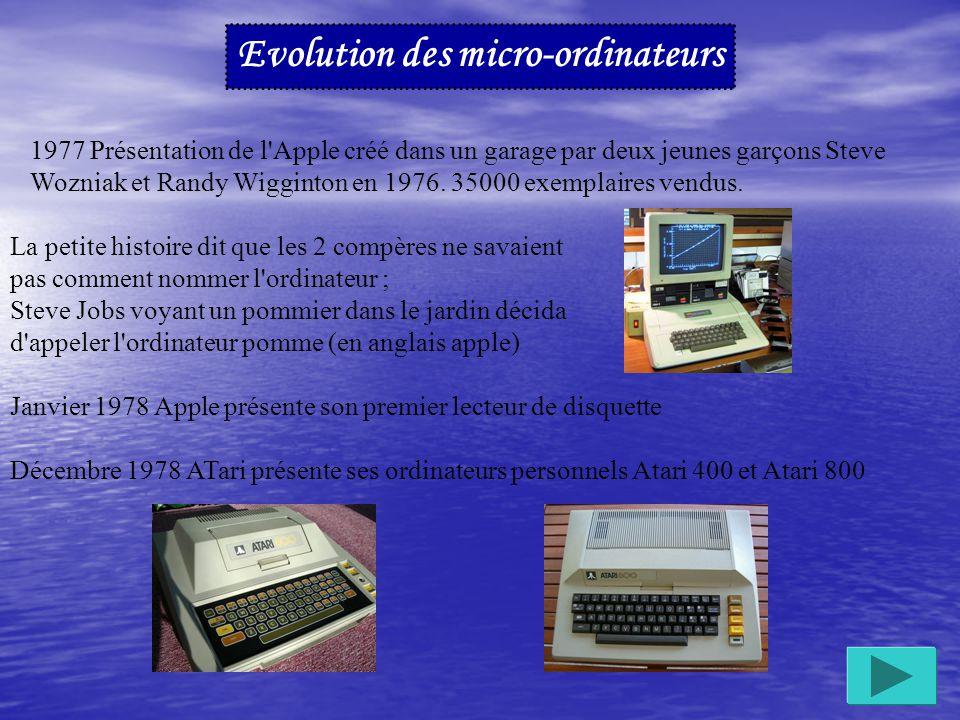 La miniaturisation des composants et l'arrivée du microprocesseur, permet la création du micro ordinateur.