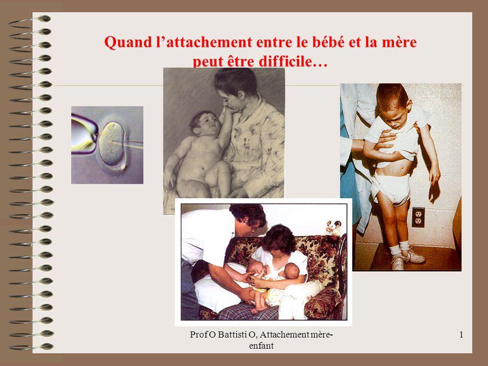 Quand l'attachement entre le bébé et la mère peut être difficile… Prof O Battisti O, Attachement mère- enfant 1