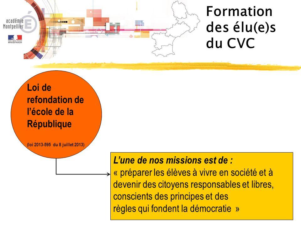 Le Socle Commun CSP - 2014 3.La formation de la personne et du citoyen 4.