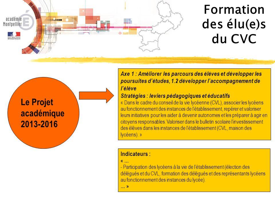 Formation des élu(e)s du CVC Circulaire du 16 Juillet 2014 B.O.