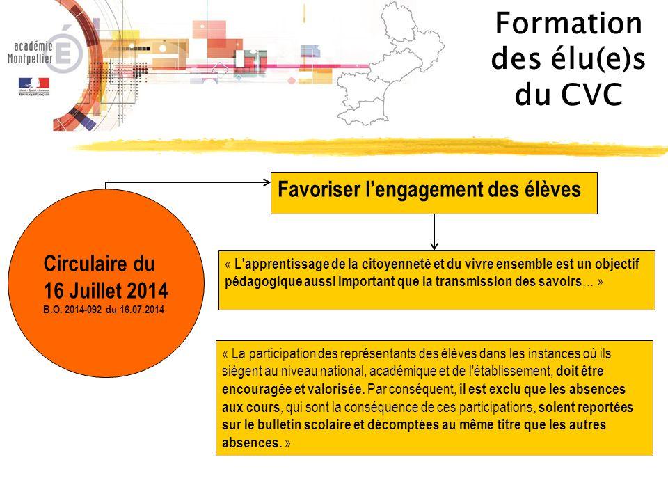 Les CVC pour… Développer l' autonomie, la responsabilité et l'engagement de l'élève au sein de son établissement.