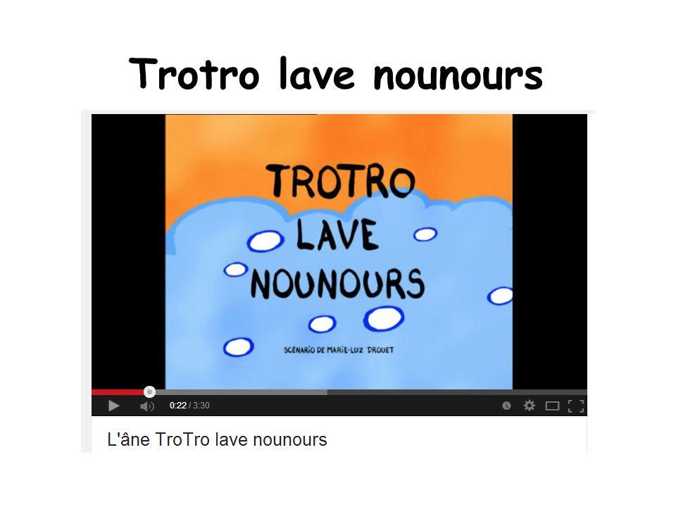 Trotro lave nounours