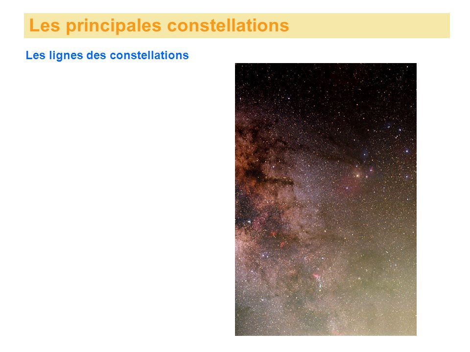 Les principales constellations Les lignes des constellations