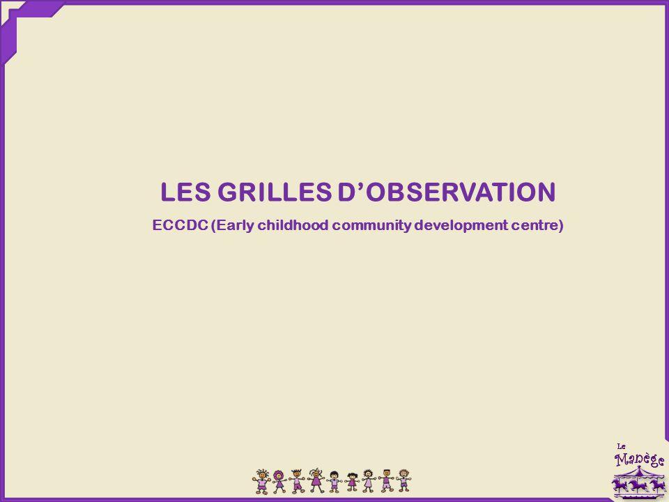 LES GRILLES D'OBSERVATION ECCDC (Early childhood community development centre)