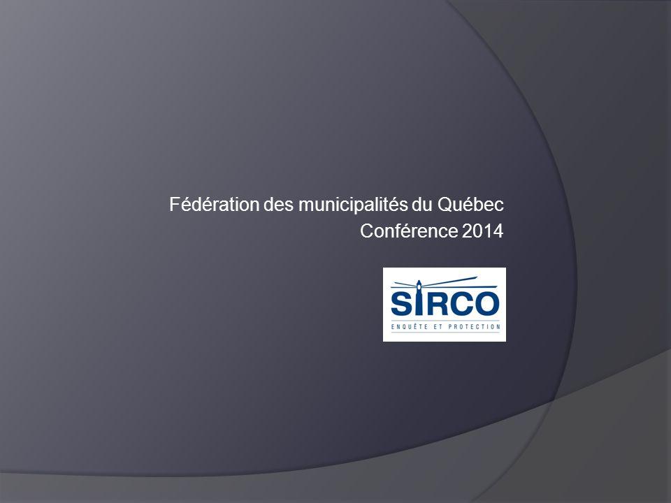 Fédération des municipalités du Québec Conférence 2014