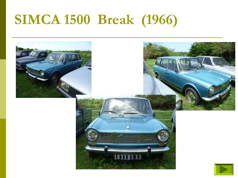 SIMCA 1300 GLS (fin) Retour