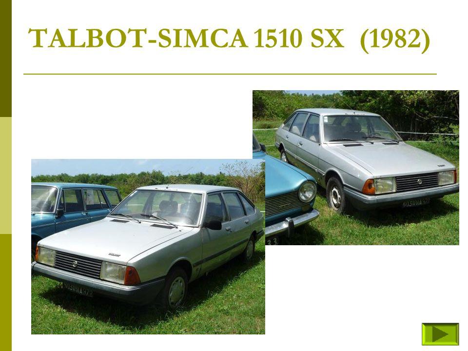 SIMCA 1200S (fin) Retour