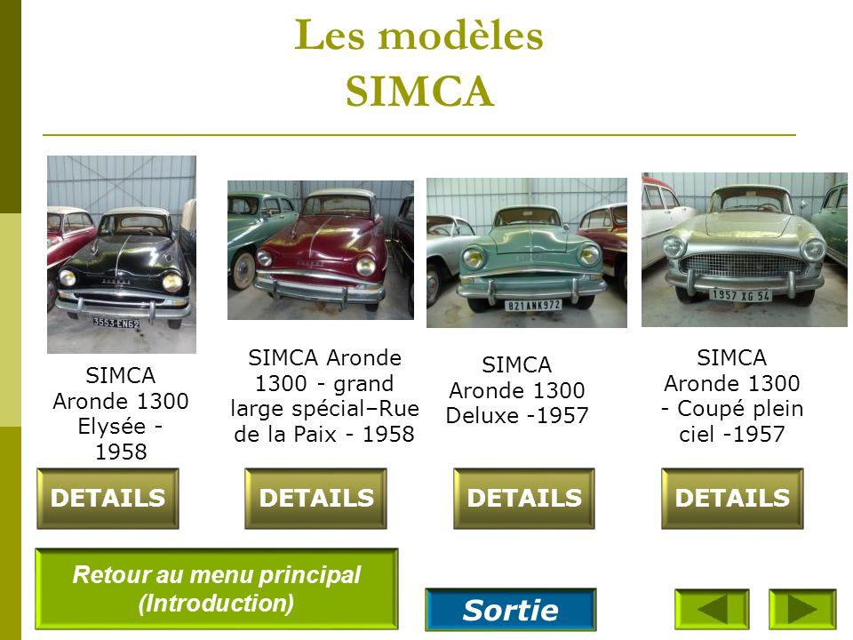 Les modèles SIMCA DETAILS SIMCA 9 Aronde Camionnette bâchée- 1955 SIMCA 9-aronde berline Deluxe surbaissé 55 1955 SIMCA Aronde 1300 Camionnette bâchée