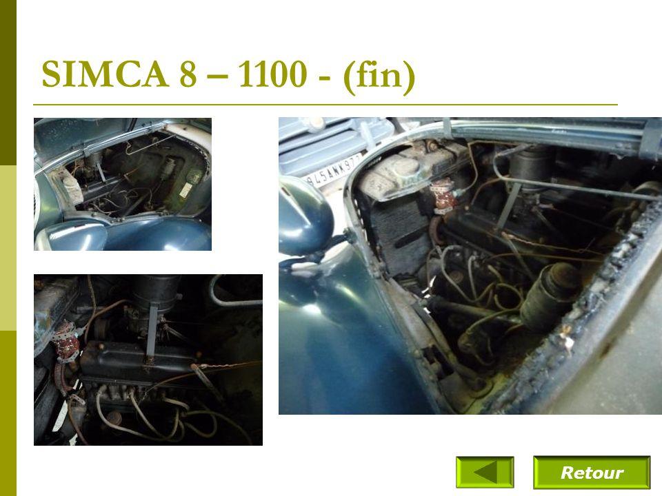 SIMCA 8 – 1100 - (suite) Véhicule qui appartenait à Mme Pigozzi - provient du musée de Reims (France)