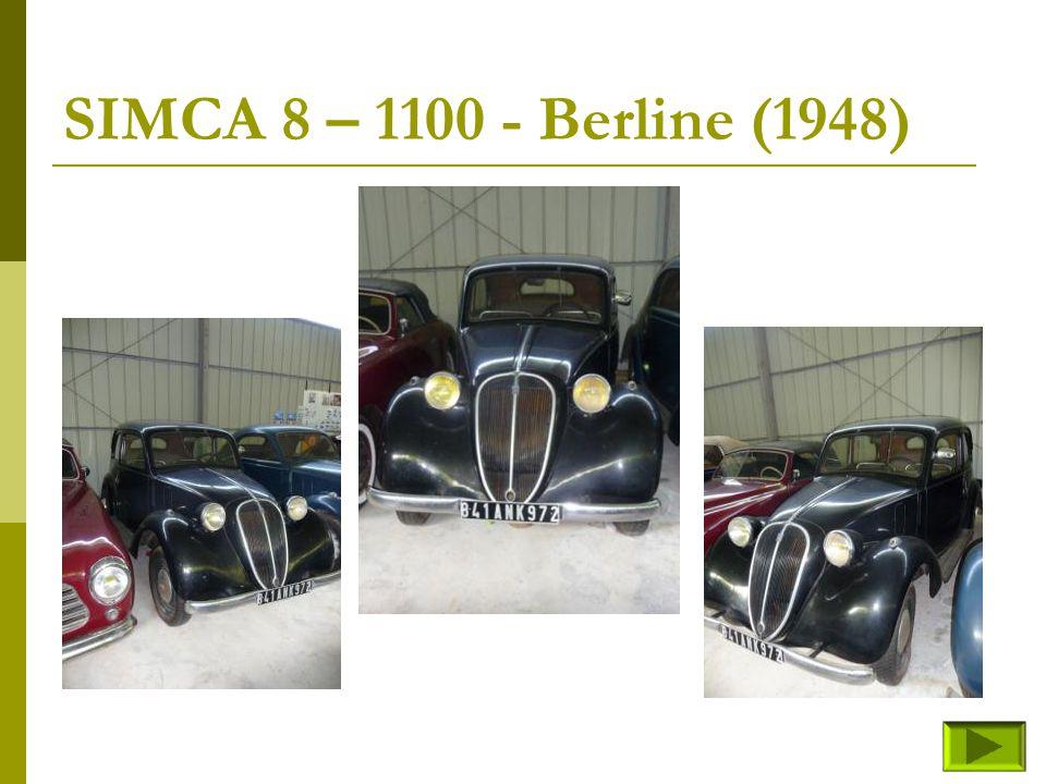 SIMCA 8 – 1100 - (fin) Retour