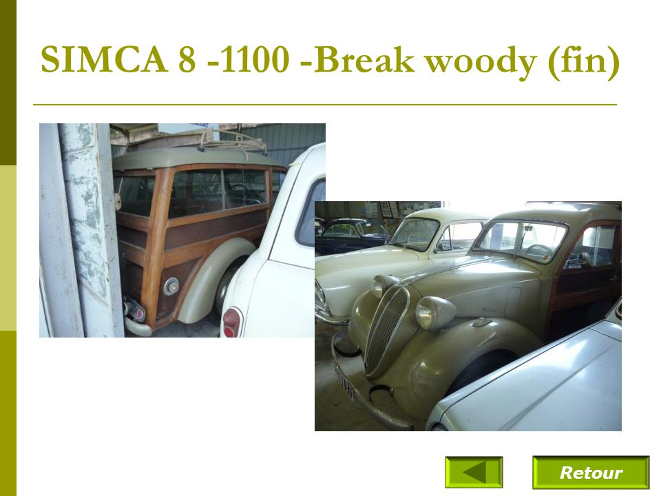 SIMCA 8 – 1100-Break woody (1948)
