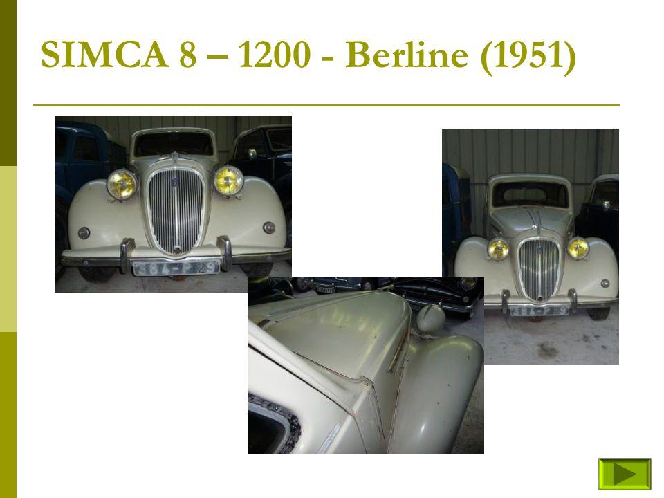 SIMCA 8 – 1200 - cabriolet (fin) Retour