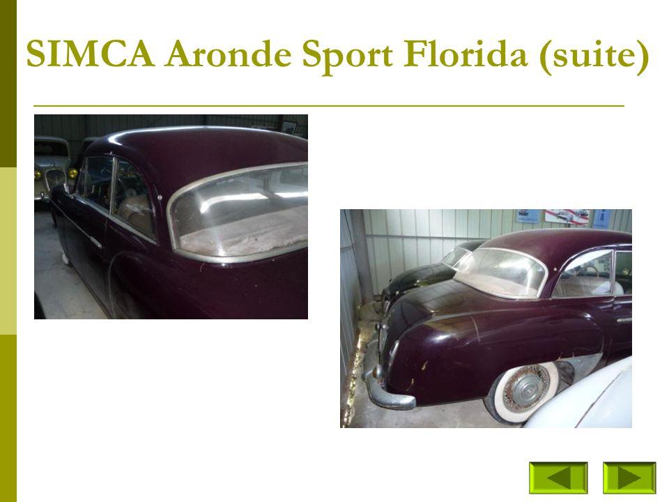 SIMCA Aronde Sport Florida (1953) Modèle unique – Présenté à Enghien par l'actrice Nicole Courcel