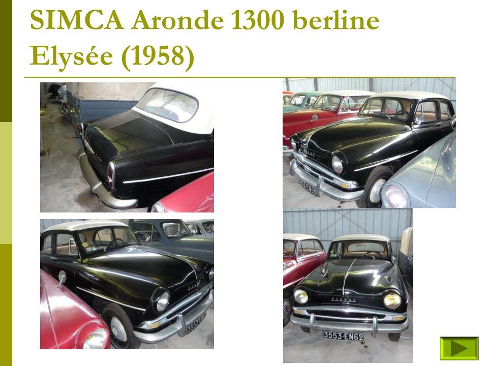 SIMCA Aronde 1300 camionnette bachée-Intendante (1957) Retour