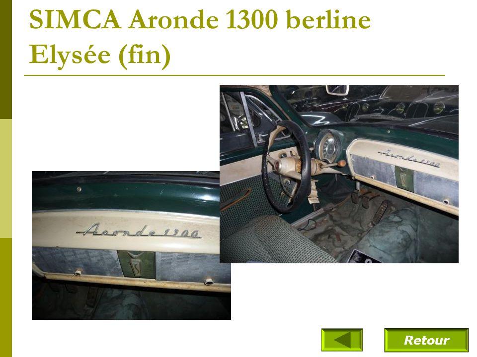 SIMCA Aronde 1300 berline Elysée (1958)