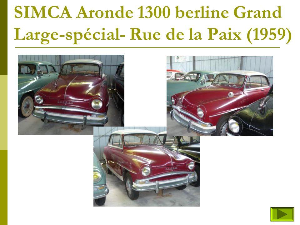 SIMCA Aronde 1300 berline Elysée (fin) Retour