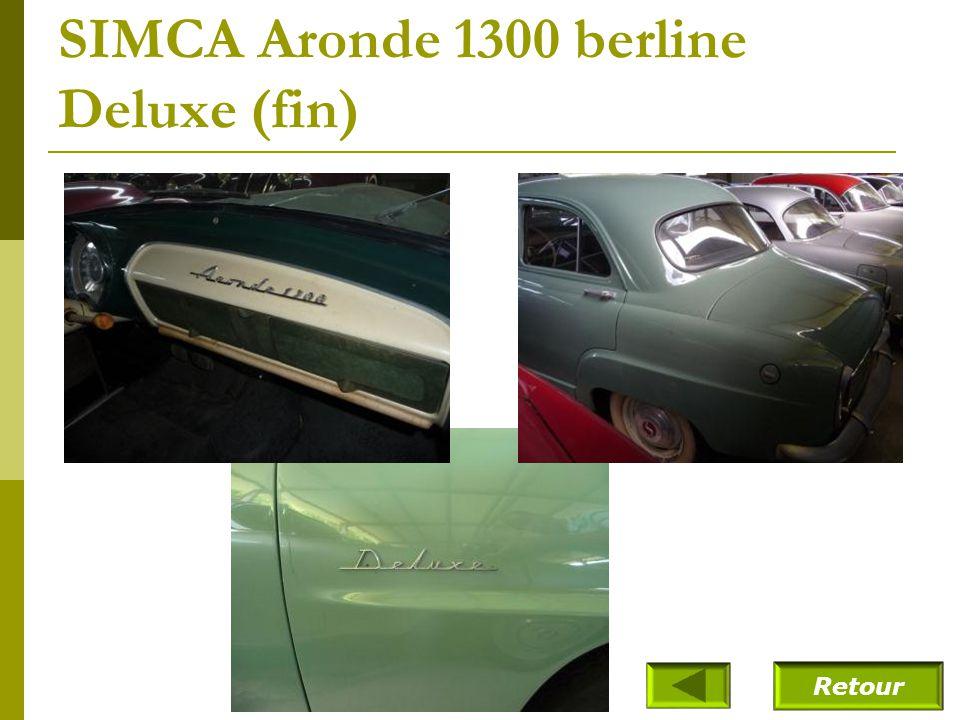 SIMCA Aronde 1300 berline Deluxe (1957)