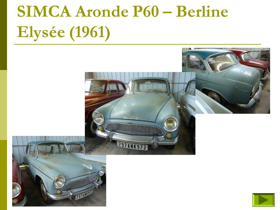SIMCA Aronde P60 – Coach Grand Large Monaco (fin) Retour