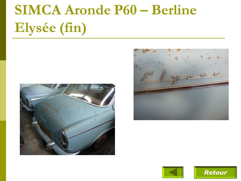 SIMCA Aronde P60 – Berline Elysée (1961)