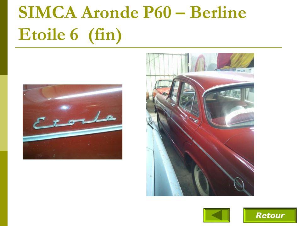 SIMCA Aronde P60 – Berline Etoile 6 (1961)