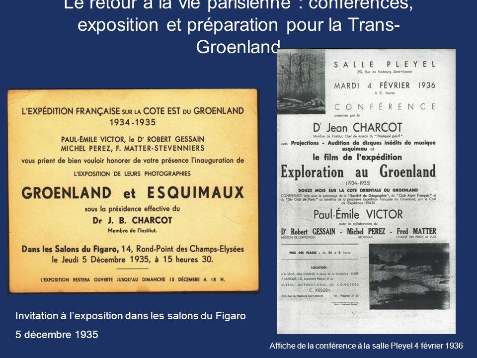 Le retour à la vie parisienne : conférences, exposition et préparation pour la Trans- Groenland Invitation à l'exposition dans les salons du Figaro 5