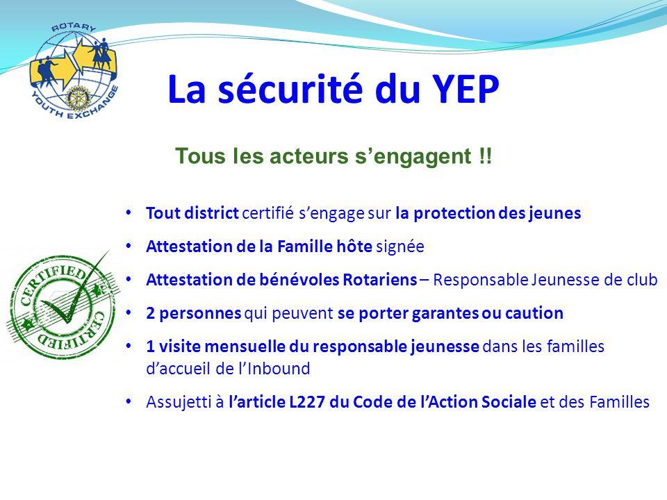 La sécurité du YEP Tous les acteurs s'engagent !.