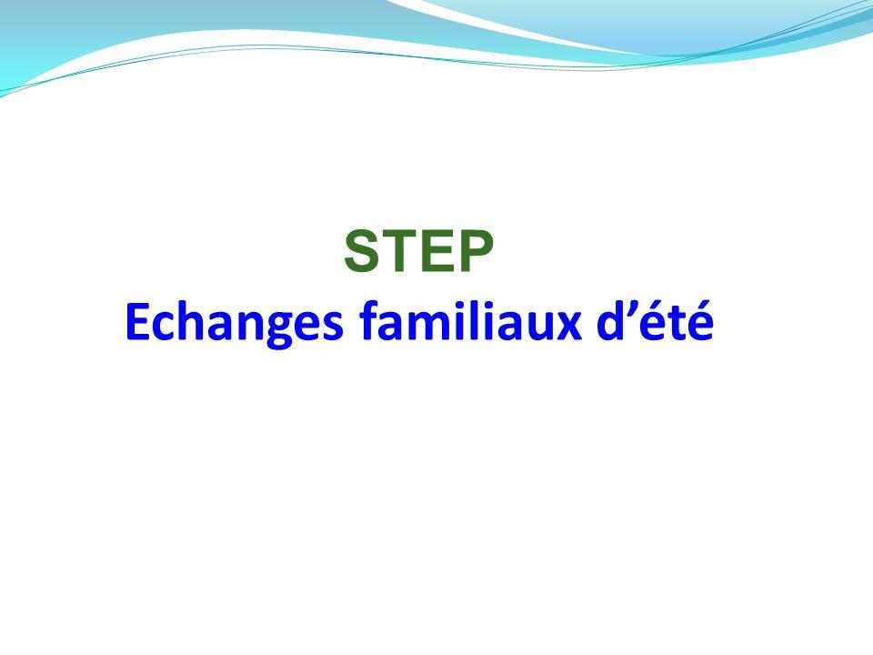 STEP Echanges familiaux d'été