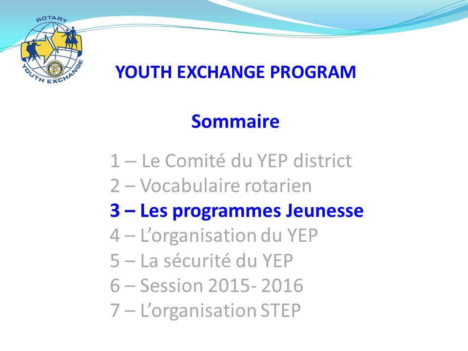 Organise les invitations aux manifestations du Rotary  Accompagne et assiste les familles d'accueil  Intermédiaire entre Inbound et la famille le YEP et la famille Interlocuteur des familles L'organisation du YEP Responsable Jeunesse (YEO) LE CLUB