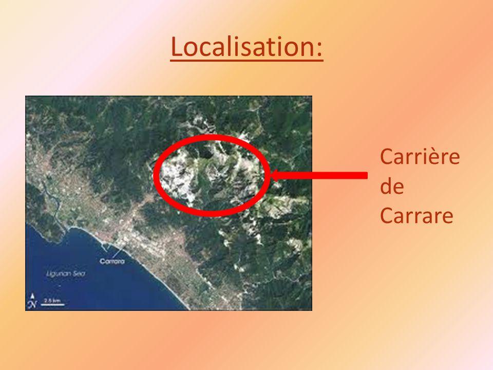 Localisation: Carrière de Carrare