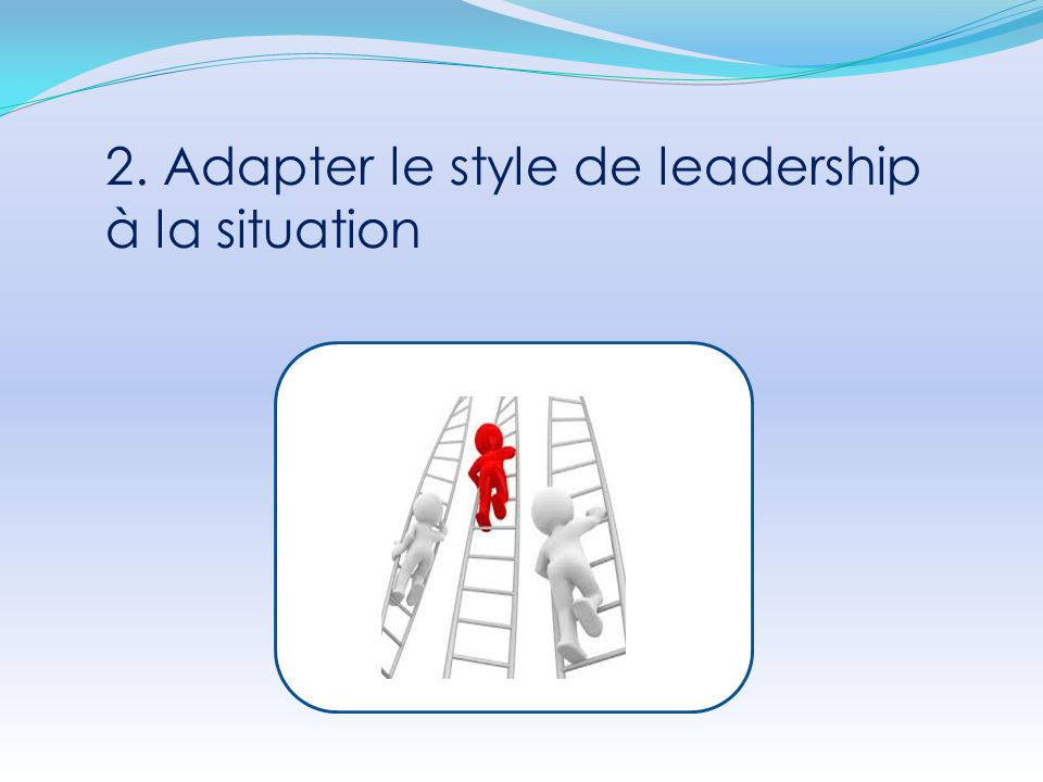 2. Adapter le style de leadership à la situation