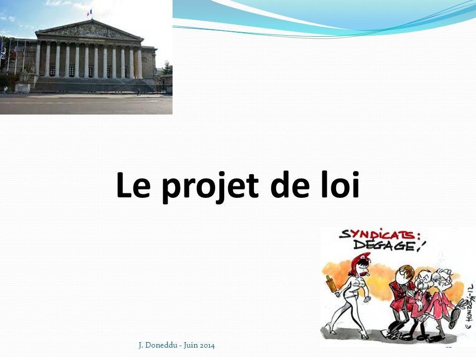 Le projet de loi J. Doneddu - Juin 201412