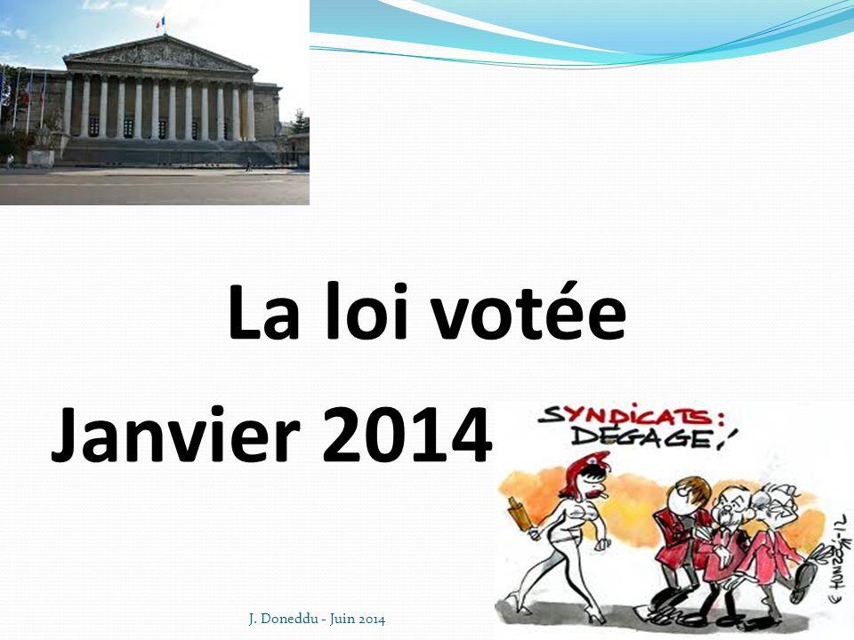 La loi votée Janvier 2014 J. Doneddu - Juin 20149