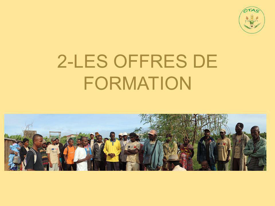 2-LES OFFRES DE FORMATION