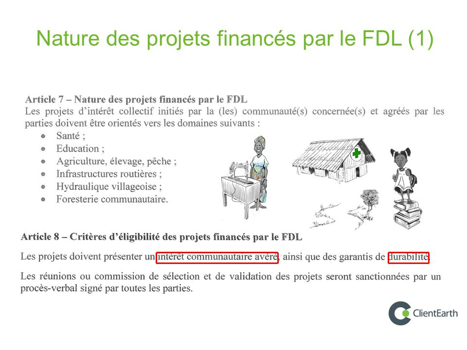 Nature des projets financés par le FDL (1)