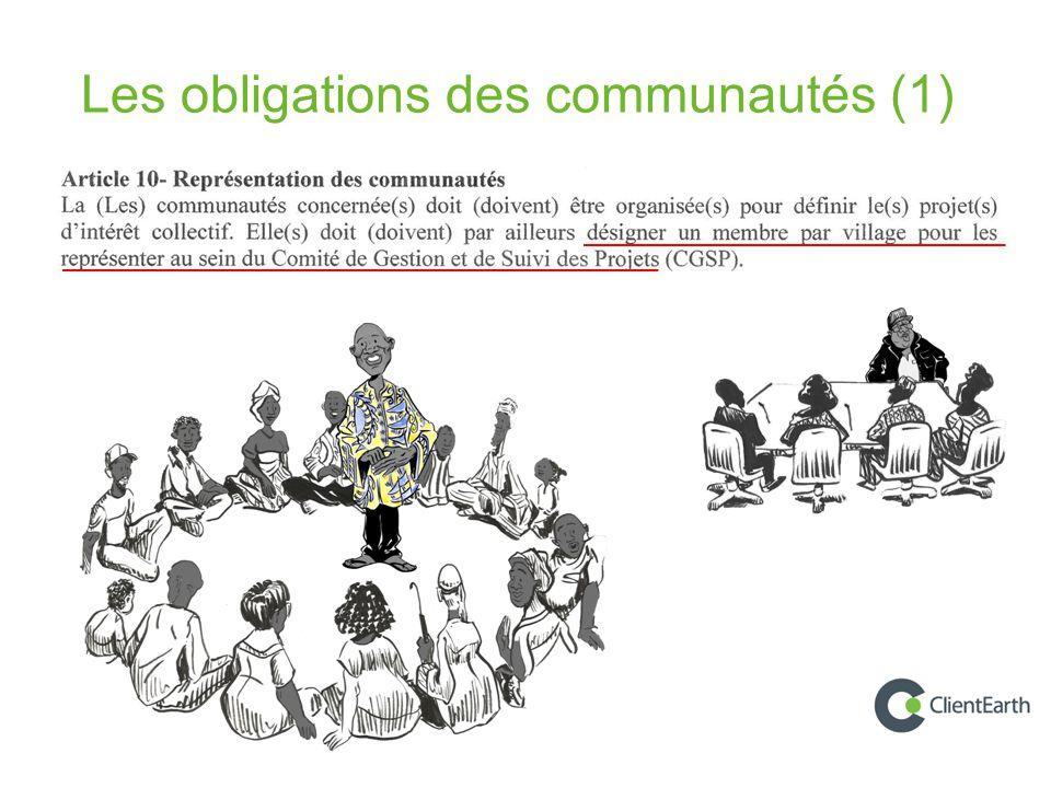 Les obligations des communautés (1)