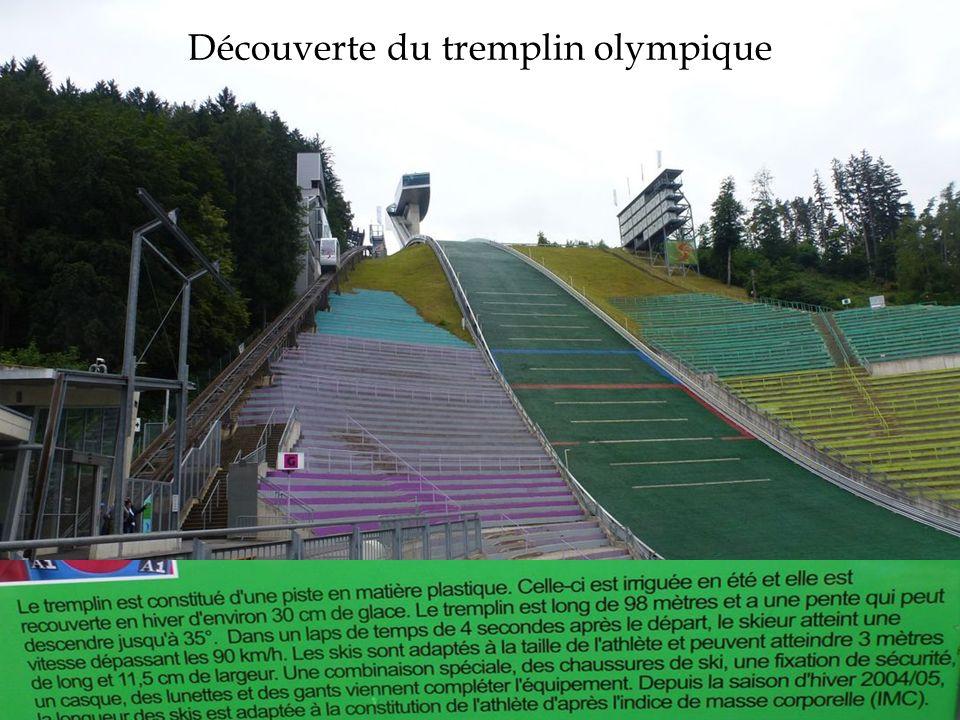 Découverte du tremplin olympique