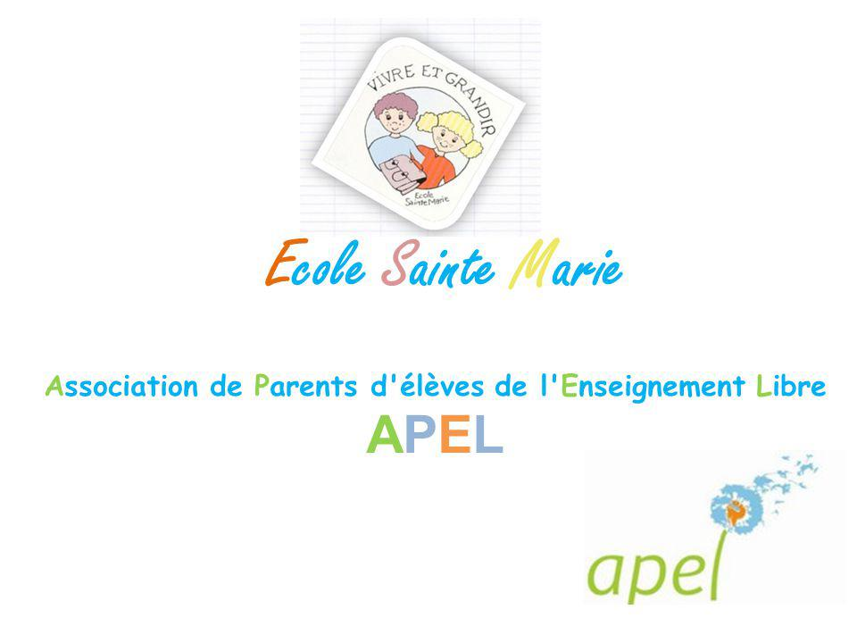 Association de Parents d'élèves de l'Enseignement Libre APEL Ecole Sainte Marie