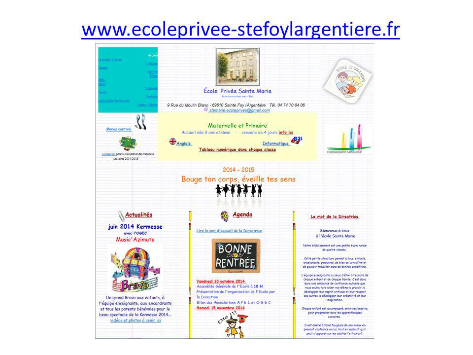 www.ecoleprivee-stefoylargentiere.fr
