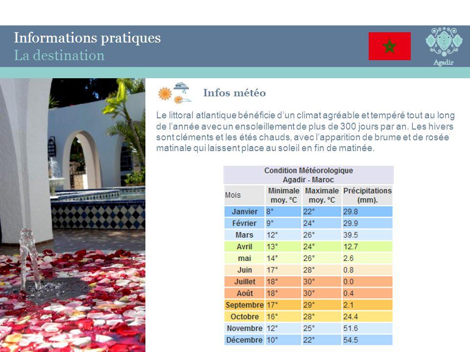 Informations pratiques Le Village Village 3 Ψ, dans le sud marocain face aux vagues de l'Atlantique.