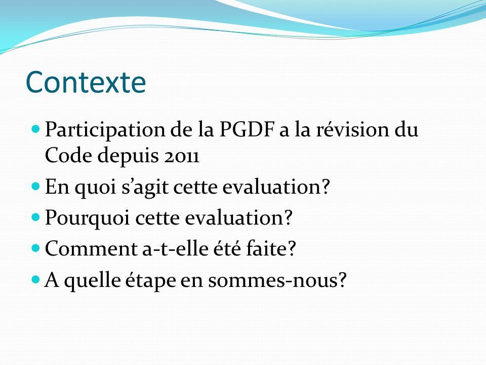 Utilisation des résultats Transmission aux parties prenantes Retranscrit les leçons apprises Aide-memoire Preservation des acquis Developpement d'une strategie interne a la PGDF