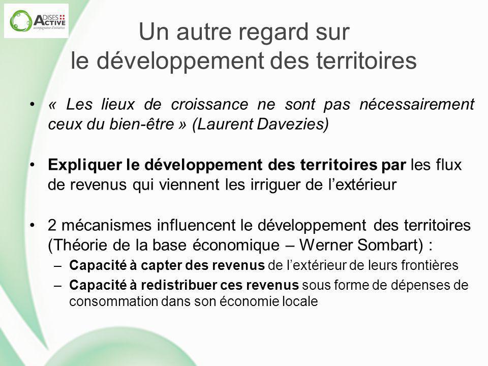 Un autre regard sur le développement des territoires « Les lieux de croissance ne sont pas nécessairement ceux du bien-être » (Laurent Davezies) Expli