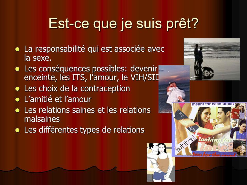La contraception La contraception Quelles sont les options pour la contraception.