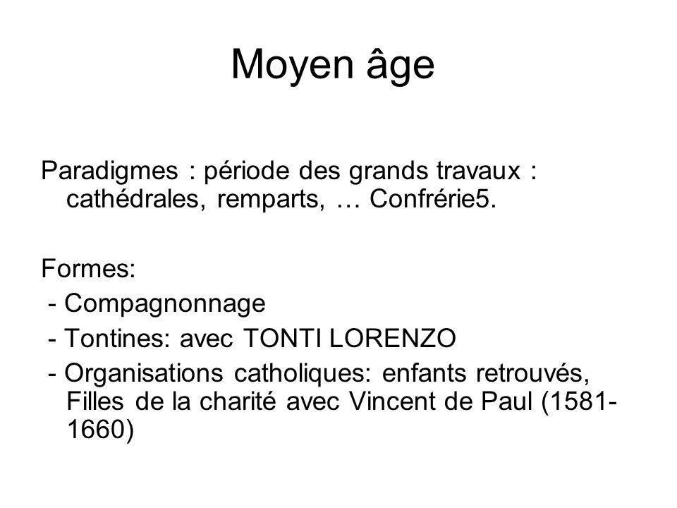 Moyen âge Paradigmes : période des grands travaux : cathédrales, remparts, … Confrérie5.