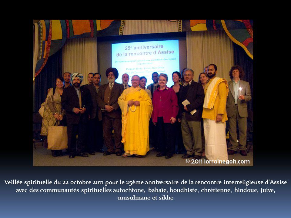 Veillée spirituelle du 22 octobre 2011 pour le 25ème anniversaire de la rencontre interreligieuse d Assise avec des communautés spirituelles autochtone, bahaîe, boudhiste, chrétienne, hindoue, juive, musulmane et sikhe