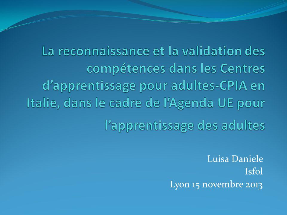 Luisa Daniele Isfol Lyon 15 novembre 2013