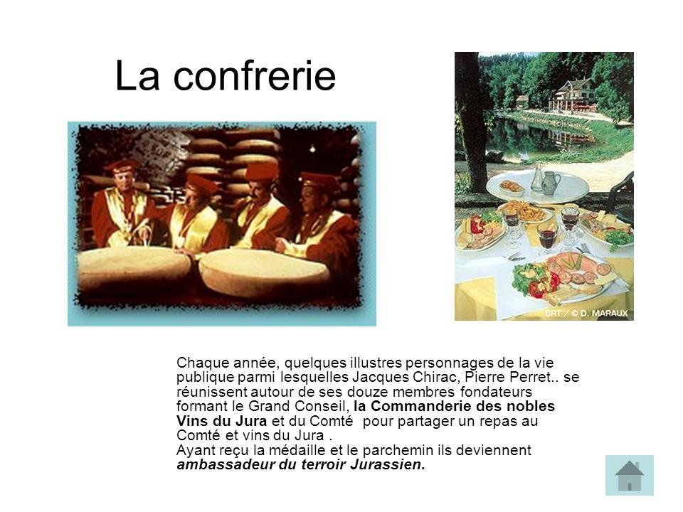 La confrerie Chaque année, quelques illustres personnages de la vie publique parmi lesquelles Jacques Chirac, Pierre Perret..