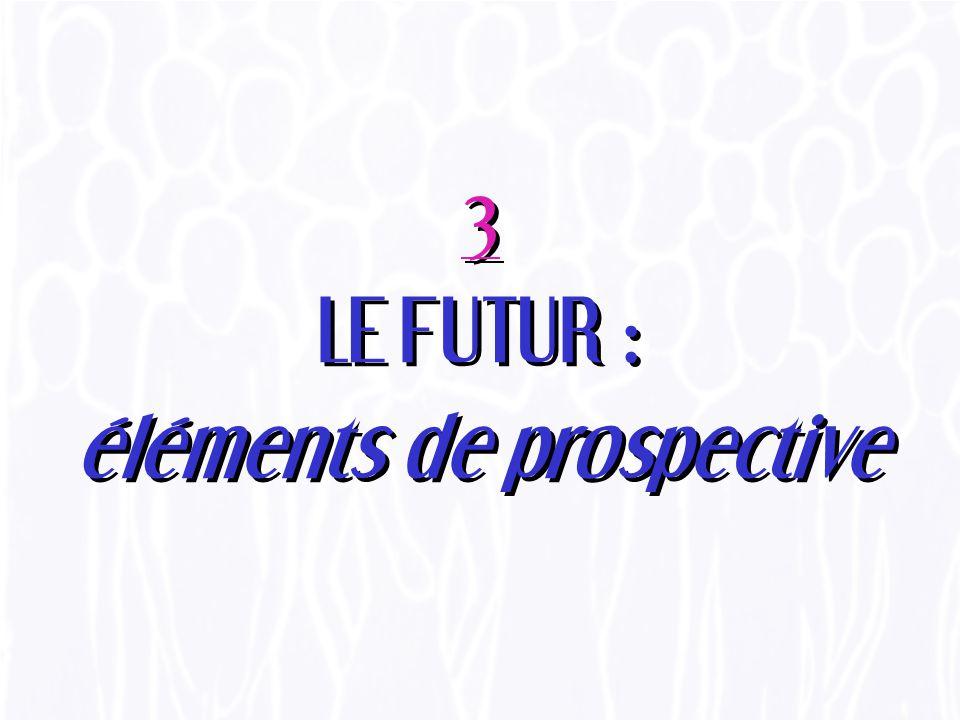 3 LE FUTUR : éléments de prospective